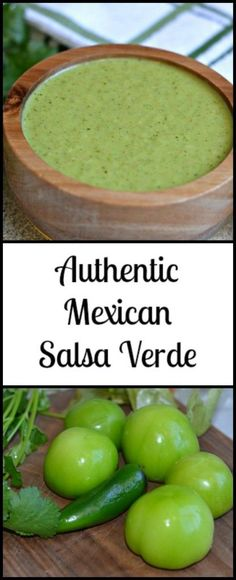This Salsa Verde is as authentic as it gets! The best part? You can make it in less than 20 minutes and it goes great with anything. This Salsa Verde is as authentic as it gets! The best part? You can make it in less than 20 minutes Authentic Mexican Recipes, Mexican Food Recipes, Authentic Salsa Verde Recipe, Mexican Desserts, Best Salsa Verde Recipe, Sauce Recipes, Cooking Recipes, Healthy Recipes, Easy Recipes