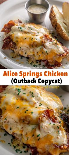 Smothered Chicken Recipes, Easy Chicken Recipes, Meat Recipes, Healthy Dinner Recipes, Cooking Recipes, Healthy Chicken, Recipes With Chicken Breast And Bacon, Chicken Recipes With Cheese, Alice Chicken Recipe