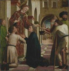 Laurentius Altar. Elemosina di San Lorenzo. 1462-1463. Alte Pinakothek München