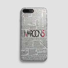 Maroon 5 Lyrics iPhone 7 Case