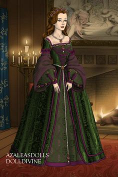 Green and Purple by LunaLaura ~ Folk and Historical Dress Up - - Historical Clothing, Historical Dress, Elizabethan Dress, Medieval Dress Pattern, Tudor Dress, Silk Anarkali Suits, Batik Fashion, Royal Dresses, Dress Sketches