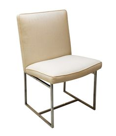 Set of 6 dining chairs – including 2 with arms – produced by Thayer-Coggin.