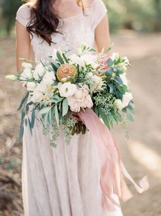 Elegant botanical wedding ideas  bouquet by Sarah's Garden photo by Brushfire Photography