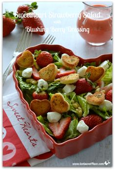 Sweetheart Strawberry Salad with Blushing Berry Dressing