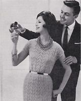 Vintage Knitting Pattern Instructions to Make a Retro Ladies Lace Dress 1950's   eBay
