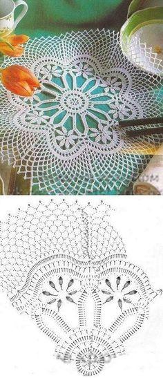 Crochet Flower with diagram pattern idea Crochet Doily Diagram, Crochet Doily Patterns, Crochet Art, Thread Crochet, Filet Crochet, Crochet Motif, Crochet Designs, Crochet Crafts, Crochet Stitches