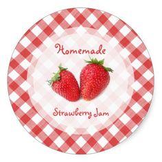Fraises / Strawberry Jam sticker