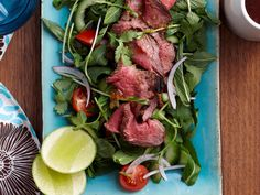 Light, fresh and packed with tangy flavours, this delicious beef salad is a classic Asian dish, perfect for a healthy lunch or dinner. Thai Beef Salad, Asian Beef, Grill Plate, Fish Sauce, Cherry Tomatoes, Beef Recipes, Healthy Eating, Lunch, Fresh