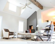 18 Living Room Designs with Vaulted Ceiling | Home Design Lover