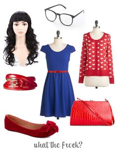 What the Frock? - Affordable Fashion Tips, Celebrity Looks for Less: Jess Day / Zooey Deschanel Halloween Costume