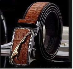 2016 genuine Leather Belts For Men mens belts luxury designer belts men high quality crocodile grain Jeans pants Leopard belts - Best Of Attire - Buy Stylish Attire Leather Belt Buckle, Leather Hats, Cowhide Leather, Belt Buckles, Designer Belts, Luxury Designer, Mens Pinky Ring, Leopard Belt, Luxury Belts
