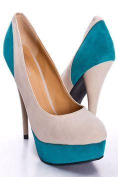 Two-tone heels