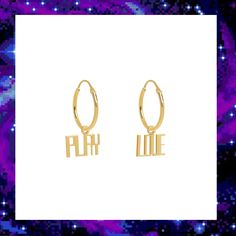 PLAY LOVE SLEEPER EARRING SET £80.00 Sleeper Earrings, Out Of This World, Techno, Earring Set, Jewelry Collection, Play