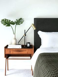 Architecture Mid Century Modern Bed Pertaining To Our 11 Best Midcentury Bedroom Ideas Decoration Pictures Inspirations 4 Black Stainless Steel Range Hood Reading Chair Full Size Platform Interlocking Carpet Tiles Area Rugs West Elm Bedroom, Home Bedroom, Bedroom Ideas, Peaceful Bedroom, Bedroom Signs, Modern Bedroom Furniture, Modern Bedroom Design, Furniture Ideas, Modern Bedrooms