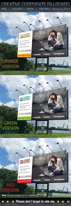 Creative Corporate Billboard Signage Template #design Download: http://graphicriver.net/item/creative-corporate-billboard-signage/5926731?ref=ksioks