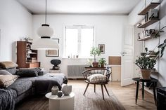 Old Meets New in a Charming Swedish Home