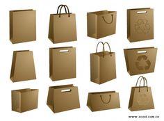 material de vectores en blanco bolsa de papel kraft | Descargar ...