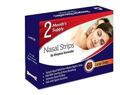 60 Large Nasal Strips by Sleepeze Remedies - Help Stop Snoring Device **2 Month's Supply** - Sleep & Snoring Aids That Help You Breathe Right - Provides comfort and relief for your Sleep Apnea, Insomnia and Nasal Congestion: Amazon.co.uk: Health & Personal Care