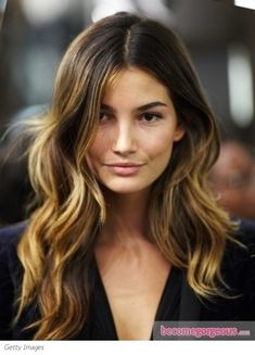 Ombré brown and mid length wavy hair | Become Gorgeous