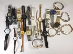 Branded Mix Estate Lot Of 23 men women Wristwatches Quartz 2.7lbs  #A-89-17  #lorusEddieBauerGruenAcquaPulsar