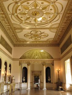Syon House information - Private home of the current Duke of Northumberland, re-modelled by architect Robert Adam. Belton House, Harewood House, Chatsworth House, Houghton Hall, Alnwick Castle, Ice Houses, Ceiling Art, Gothic Furniture, Interiors