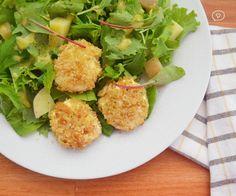 Receita: Salada Verde com Queijo de Cabra Crocante
