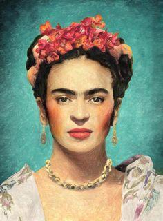 Frida Kahlo Painting by Taylan Apukovska