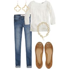 i love a white top + jeans.....can't beat it!