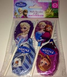Frozen Lolliepops good for toddlers and age 3 to 8 x❤️💦 Frozen Disney Anna, Disney Frozen Birthday, Disney On Ice, Elsa Frozen, Fake Nails For Kids, Bolo Toy Story, Chocolate Lollies, Mickey Mouse Art, Elsa Olaf