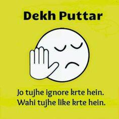 10 New Dekh bhai style Troll and meme... Dekh Puttar - Jo tujhe ignore karte hein, wohi tujhe like karte hein..