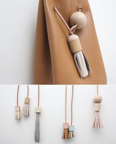 leather tassel and bucket bag. i want.