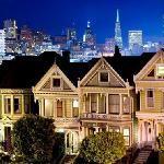 San Francisco, California. Casas Tipicas de San Francisco.