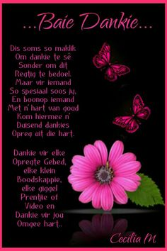 Baie Dankie, Evening Greetings, Afrikaanse Quotes, Missing You Quotes, Thank You Lord, Torah, Positive Quotes, Qoutes, Friendship