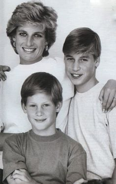 Princess Diana and her Sons Prince William+ Prince Harry