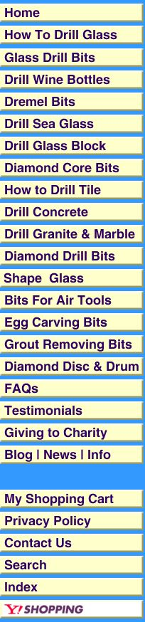 How To Drill Glass, Plus buying guid for drill bits for all drilling needs.