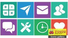 #Icon set - Web icons - Zizaza item for free #icons #iconset #webdesign