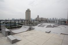 downtown building with great silouhettes Skate Park, Wakeboarding, Willis Tower, Tokyo, Surfing, Exterior, Patio, Japan, City
