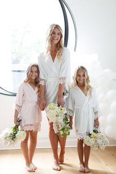f25b53eb7 25 Best Flower Girl Robes images | Flower girl robes, Flower girls ...