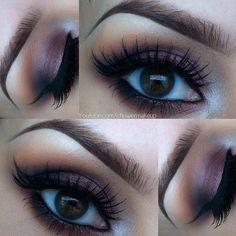 Purple makes brown eyes POP