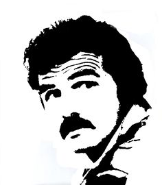 Burt Reynolds stencil template