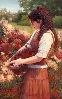 Fragrant Beauty by Sheri Dinardi Oil ~ 16 x 10