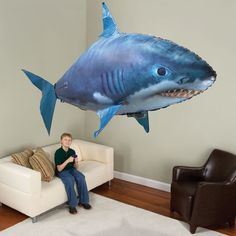 inflatable remote-controlled shark - for Bob & the boys in his living room with the super high ceilings! Watch out Eli!