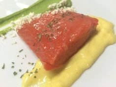 Sockeye Salmon Demi-Cuit with Lemon Curd and Butter Powder