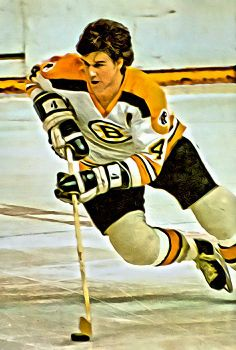 A painting of hockey legend Bobby OrrYou can find Boston bruins and more on our website.A painting of hockey legend Bobby Orr Hockey Shot, Ice Hockey Teams, Soccer, Hockey Stuff, Boston Bruins Funny, Boston Bruins Game, Hockey Decor, Canada Hockey, Bobby Orr