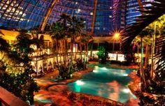 Atlantic City Harrahs Indoor Pool At Night