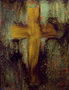 Original acrylic painting of cross on 16 x 20 stretched canvas.. $39.00, via Etsy.