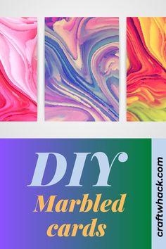 If you are looking for an easy craft that will produce a unique work of art every time, marbled cards will give you what you seek. Craftwhack tells you which materials you need to make these lovely cards plus easy to follow step-by-step instructions showing you the process of creating attractive unusual cards that make a wonderful gift. These cards will bring joy to anyone who receives them. A craft that will never be boring. Expect to be surprised every time. #marbledcards #marbled #cards