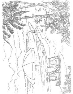 Welcome To Dover Publications Tropical Paradise Scenes Paint Or Color Coloring Pages