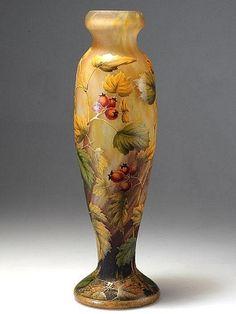 Vase by Daum, 1910.
