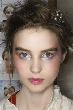 Ali Michael's makeup during fashion week #beauty